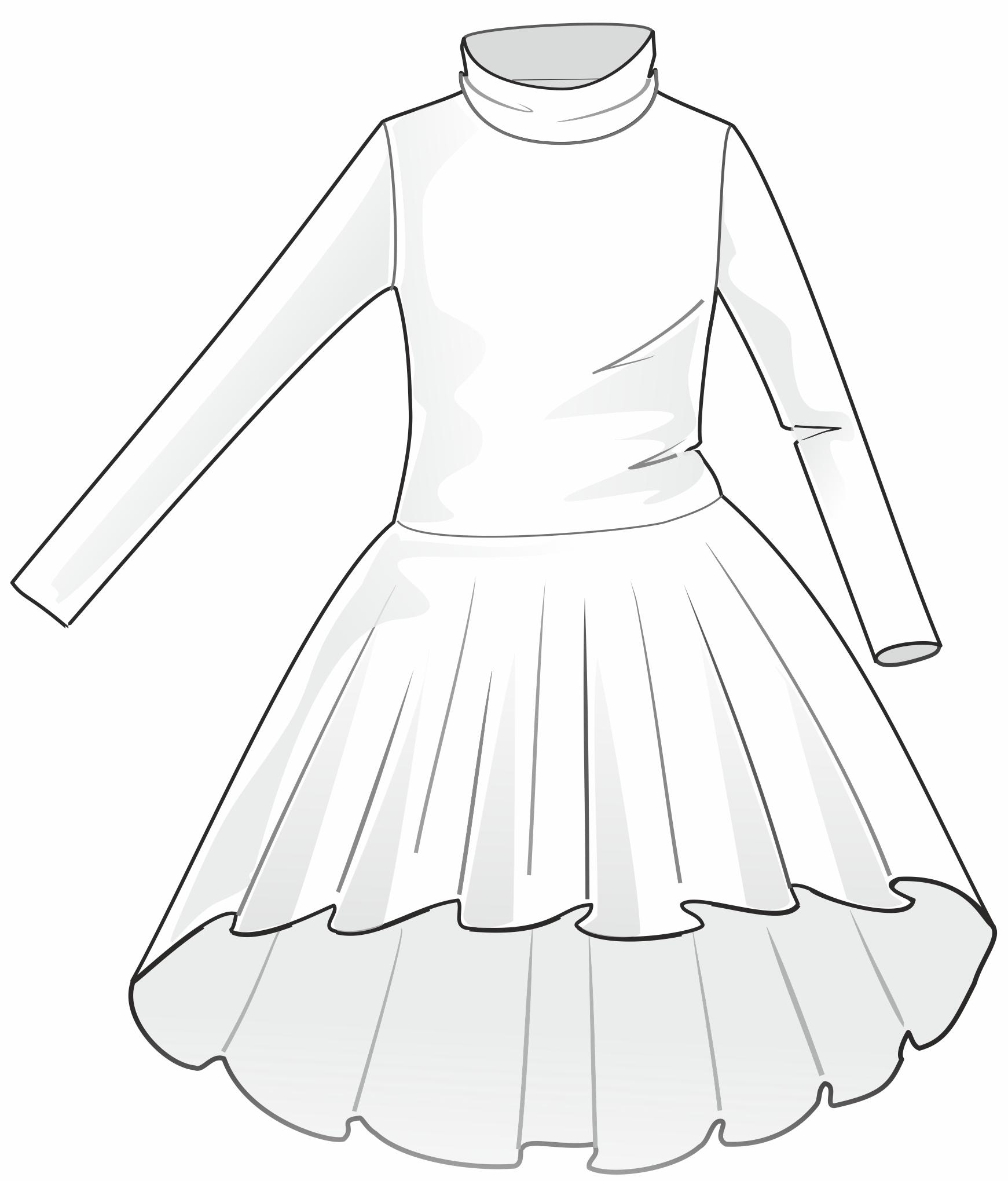Valkoinen mekko.