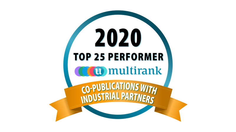 U-Multirank's Co-Publications with Industrial Partners badge