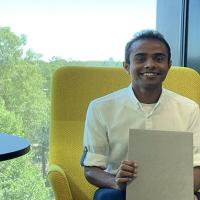 Mr Chandra Pradeep Kankanigei received his Bachelor degree diploma at Metropolia's Myllypuro campus in Helsinki.