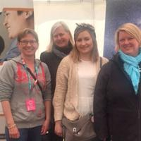 From left to right: Marianne Autero, Outi Lemettinen and Elisa Manninen from SIMHE-Metropolia, together with Leena Rintala from SIMHE-services of University of Helsinki.